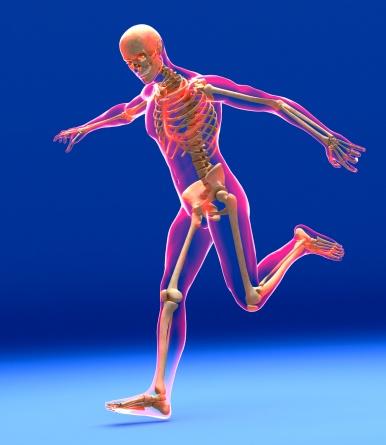 Football kick, skeleton artwork